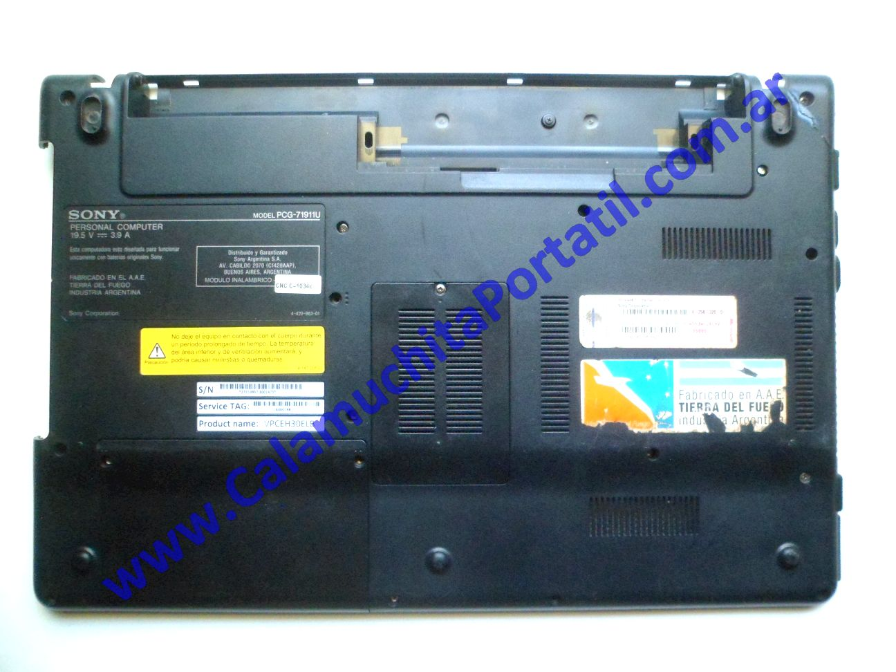 0540CAD Carcasa Base Sony Vaio VPCEH / PCG-71911u