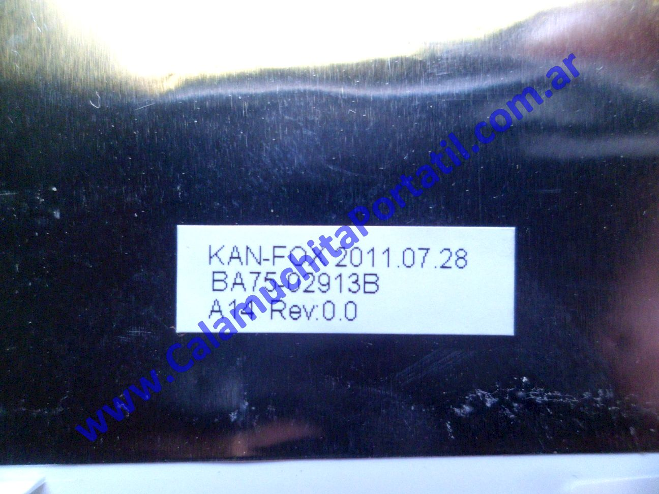 0555CAA Carcasa Tapa Samsung NC110 / NP-NC110-A03AR
