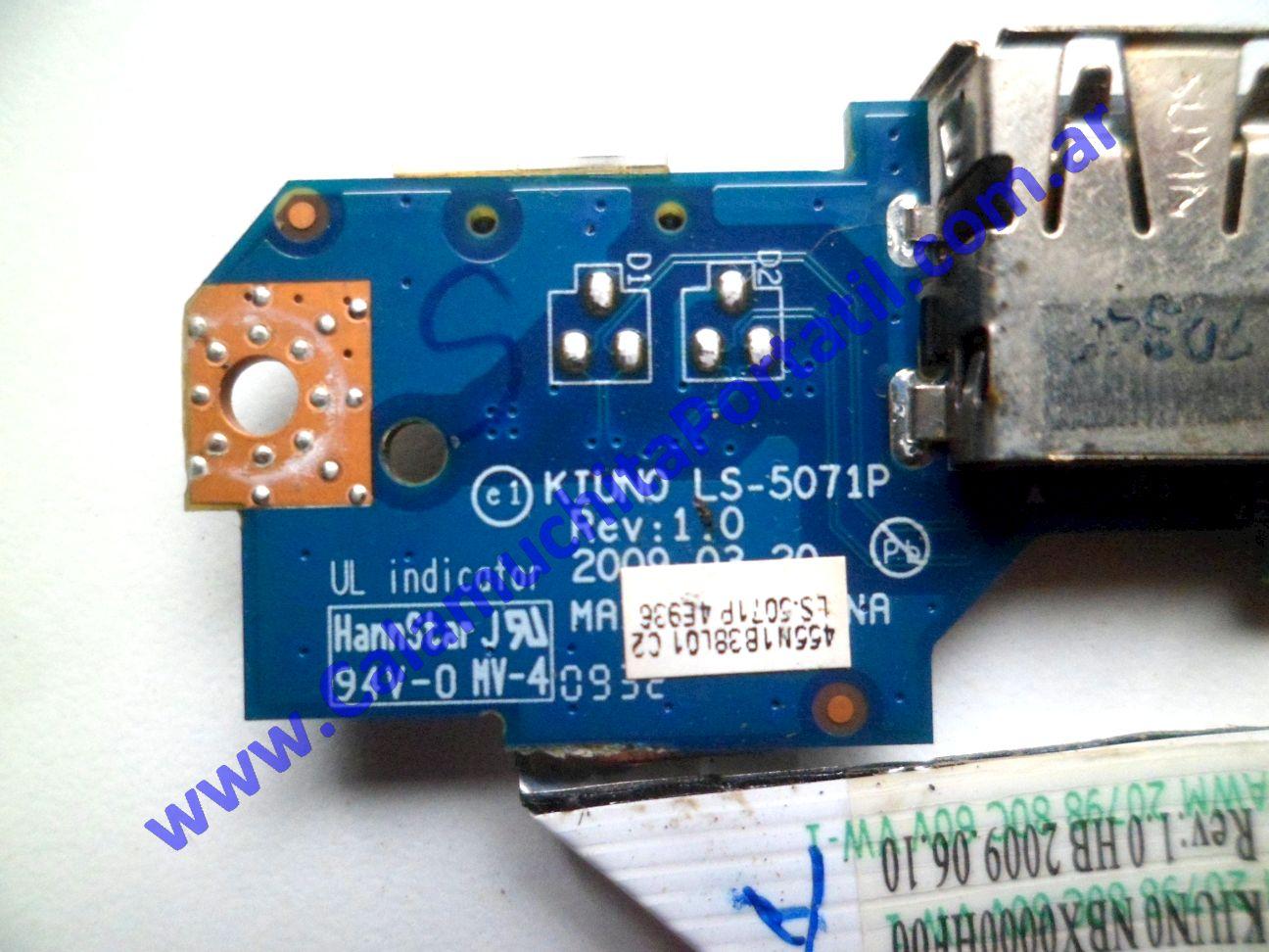 0574PUS Placa USB Lenovo IdeaPad S10-2 / 2957