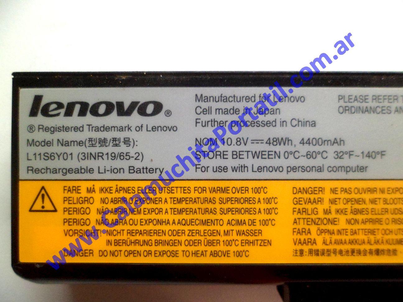 0580BAA Batería Lenovo G480 / 20149