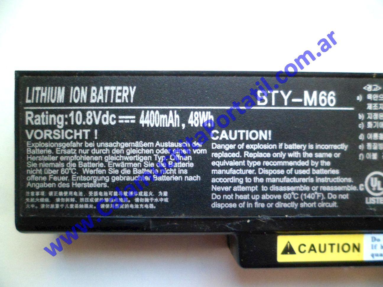 0583BAA Batería MSI MS-1458
