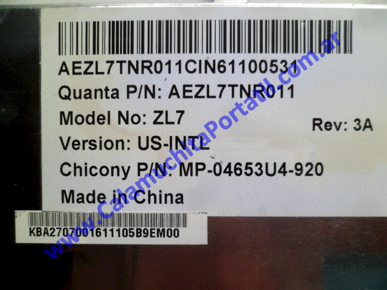 0584KBA Teclado Acer Aspire 3004WLMi / ZL5