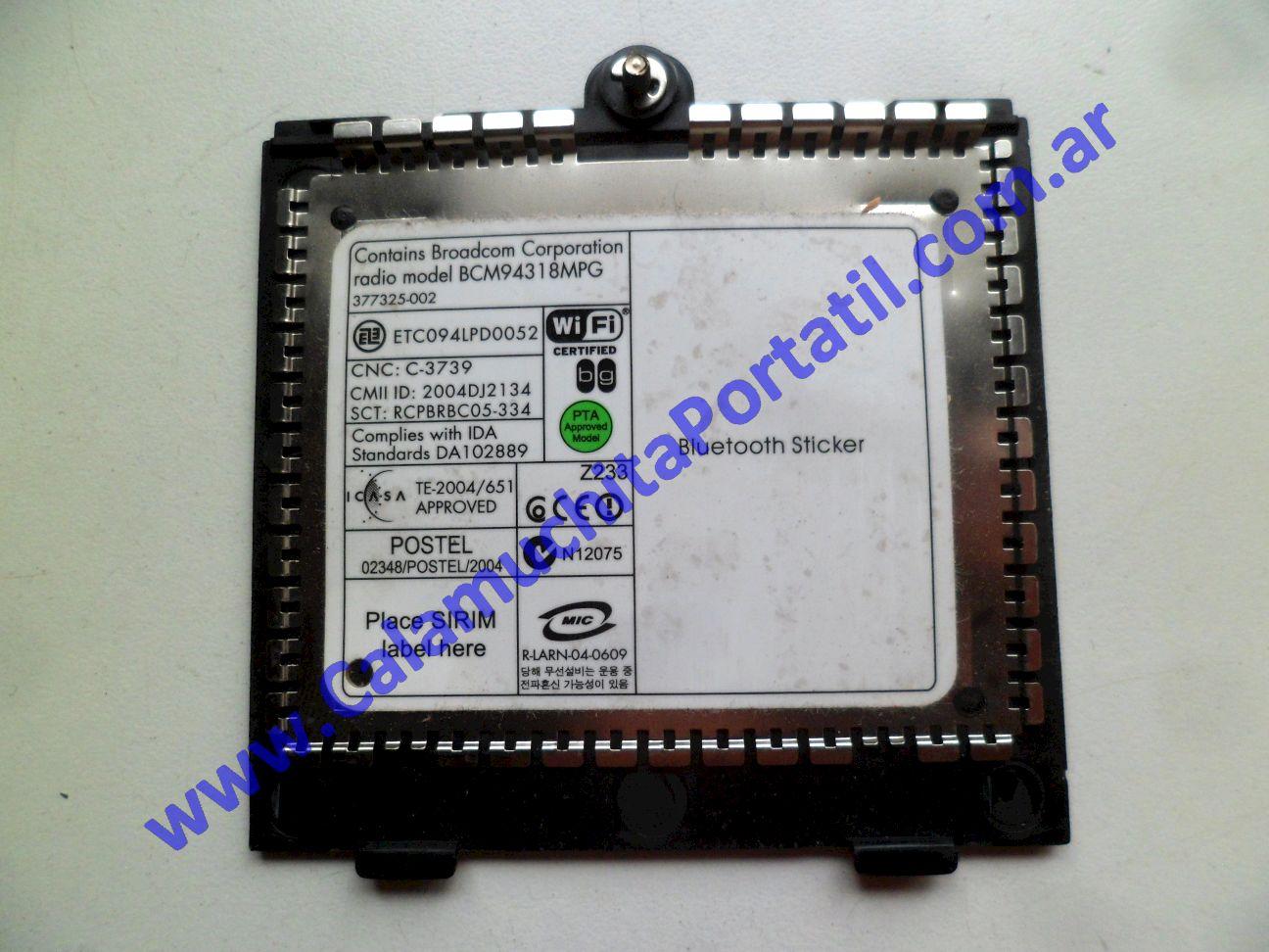 0586CTW Carcasas Tapa Wifi Compaq Presario V2000 / V2415la / EK572LA#ABM