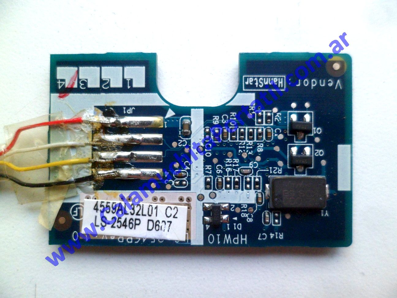 0587PFP Placa FingerPrint Hewlett Packard Compaq nx6125 / EH369LA#ABM