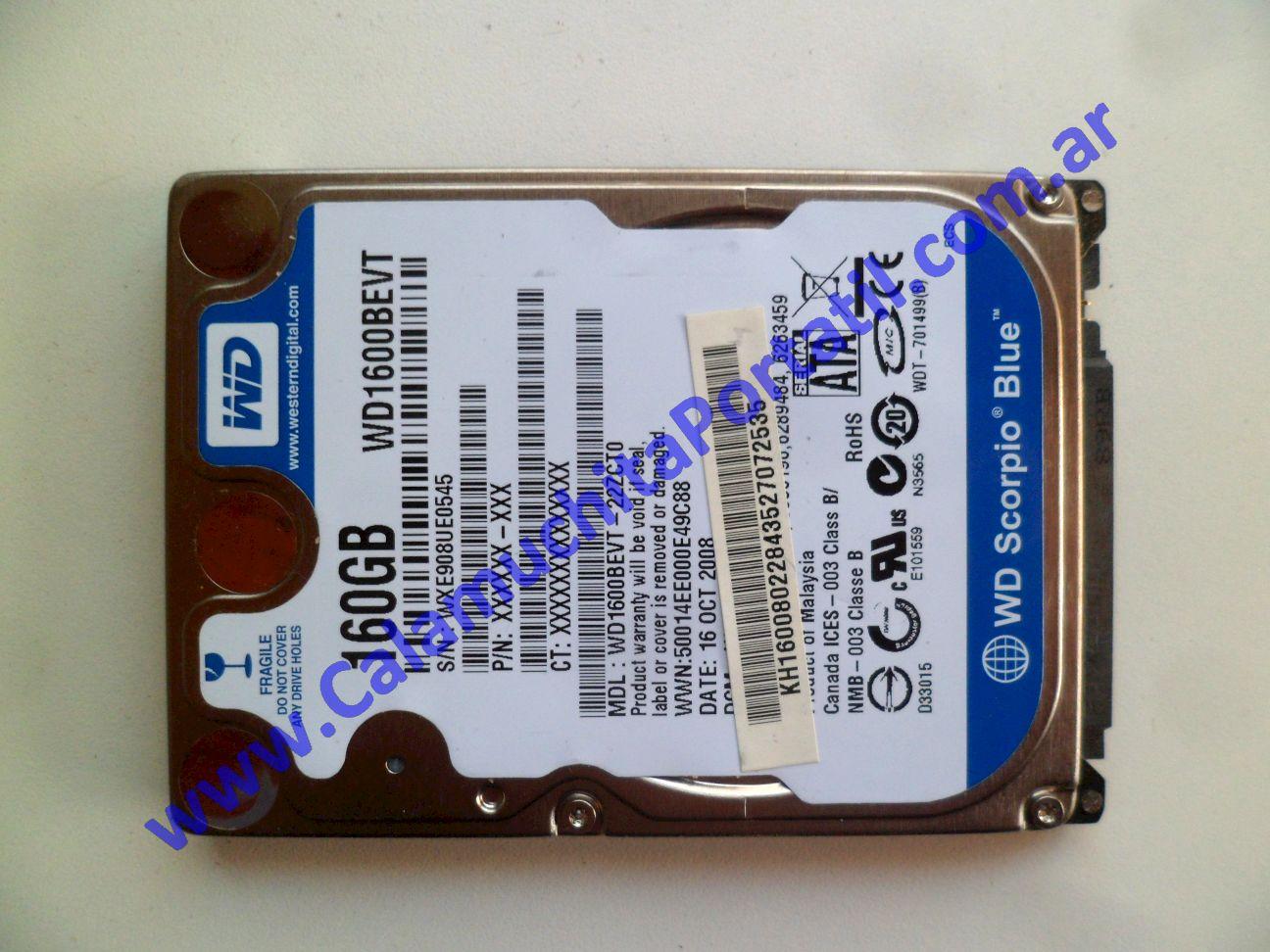 0605HDA Disco Rígido Acer Aspire One 150-1107 / ZG5