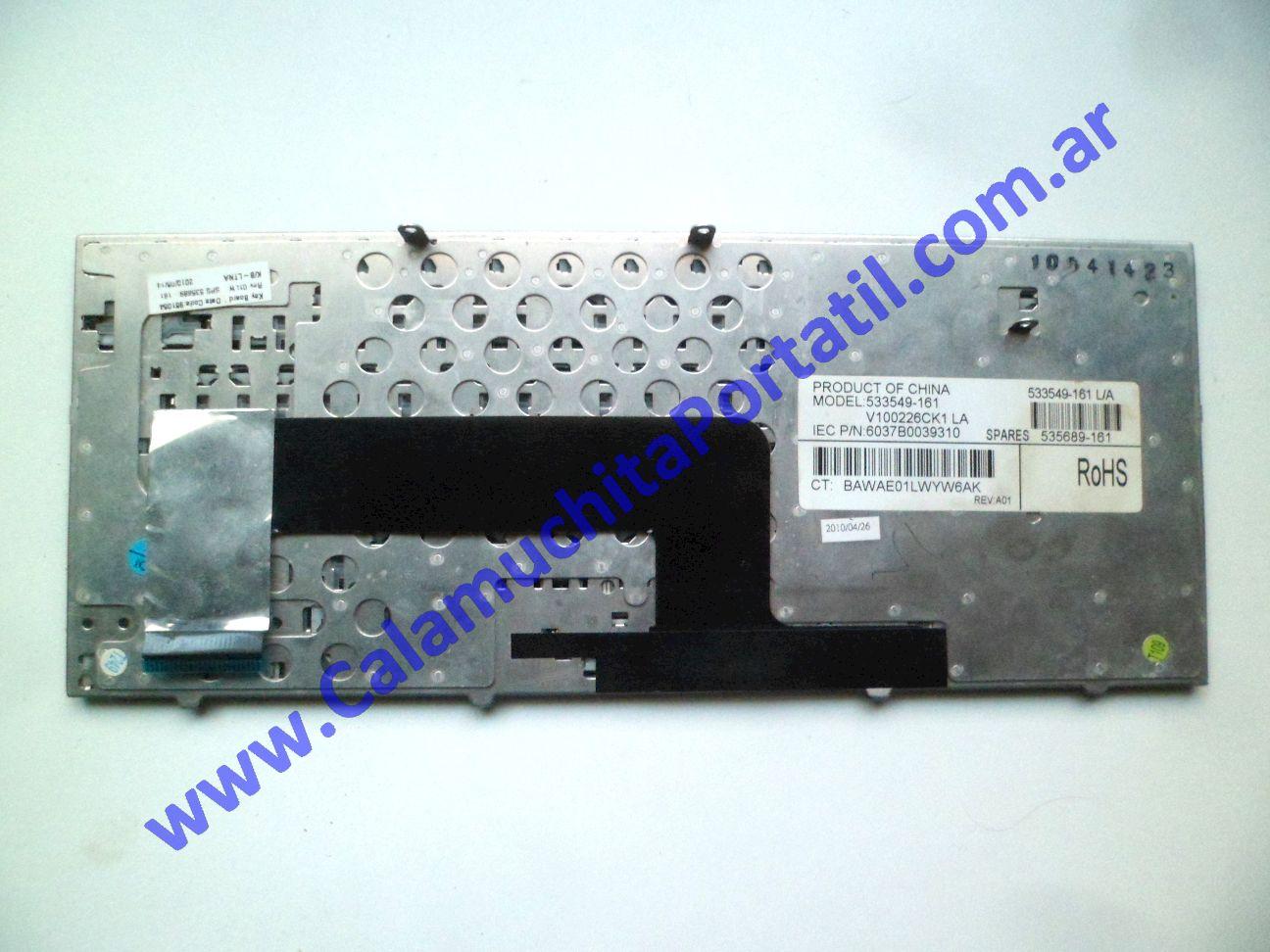 0608KBA Teclado Compaq Mini CQ10-120LA / WD943LA#AC8