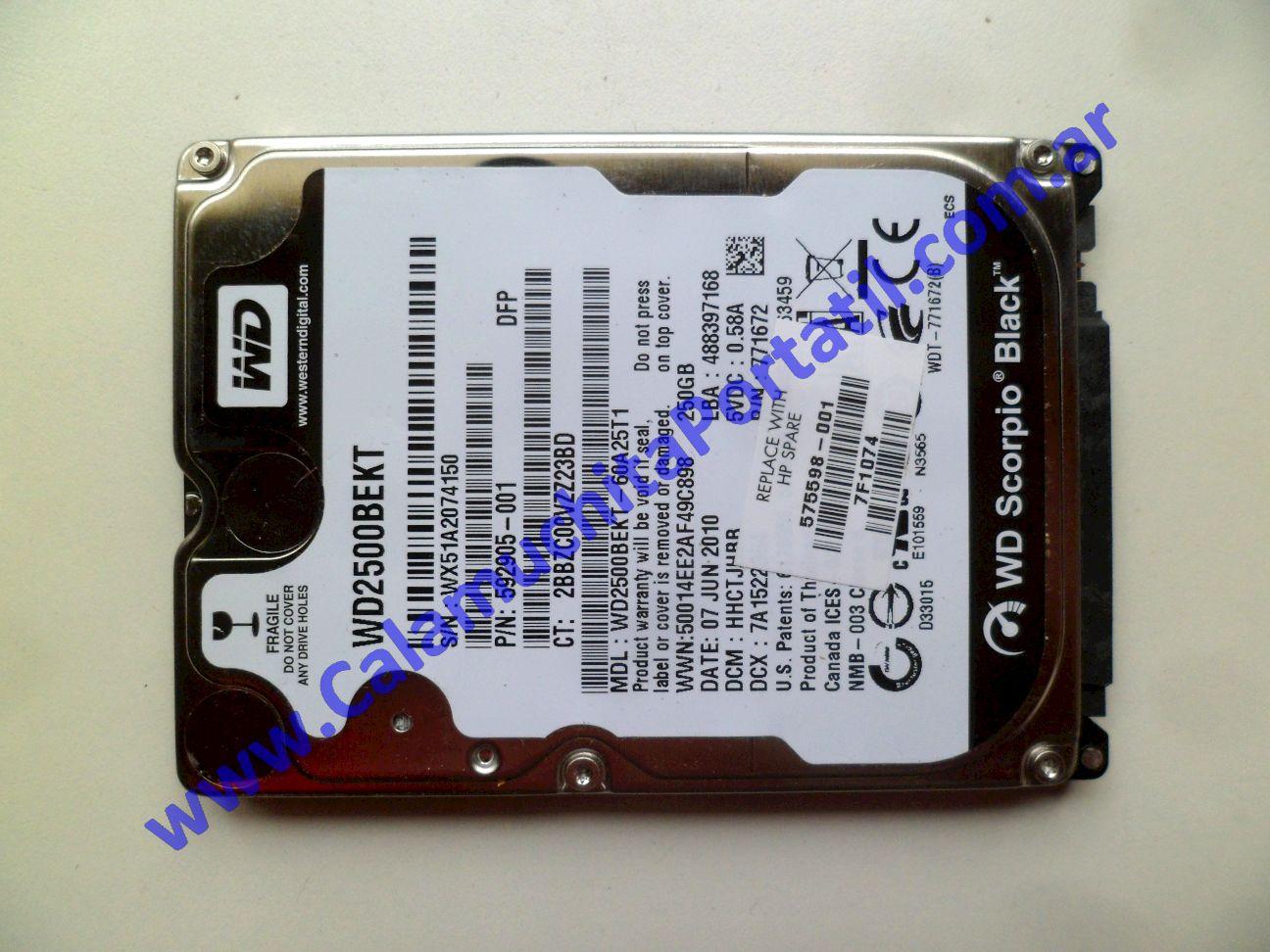 0619HDA Disco Rígido Compaq CQ42-208LA / XL347LA#ABM