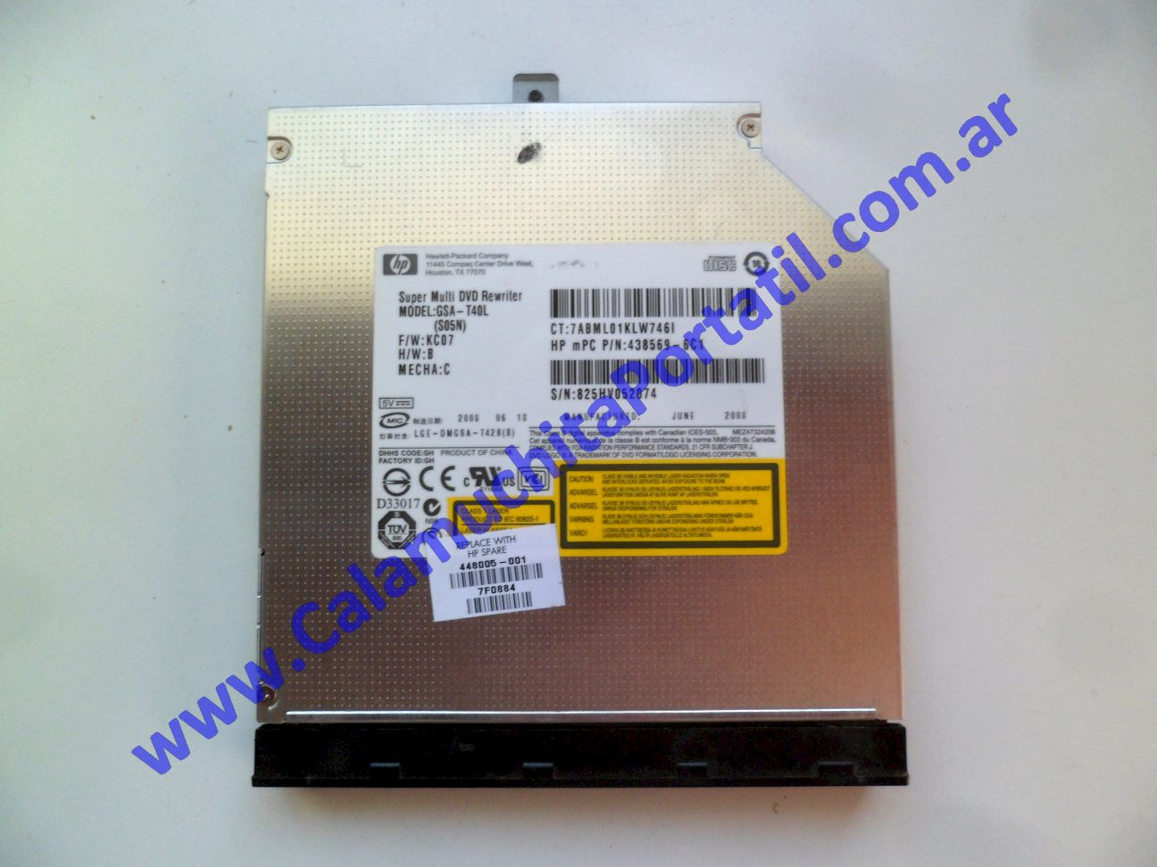 0620OPT Optico Hewlett Packard Pavillion dv9000 / dv9700 / dv9910us / FE694UA#ABA