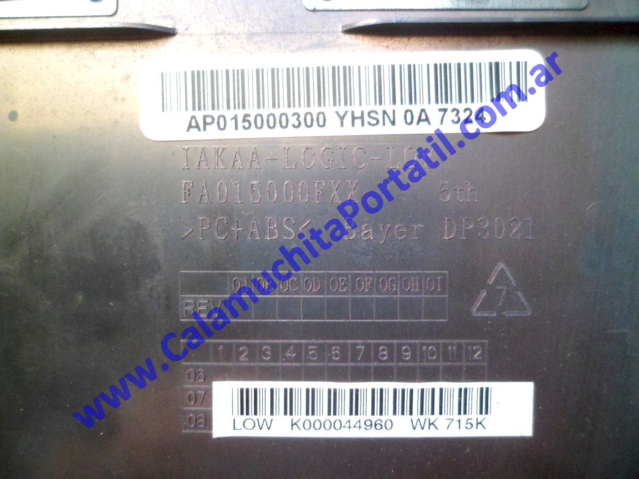 0623CAD Carcasa Base Toshiba A135-SP4088 / PSAD0U-05700L