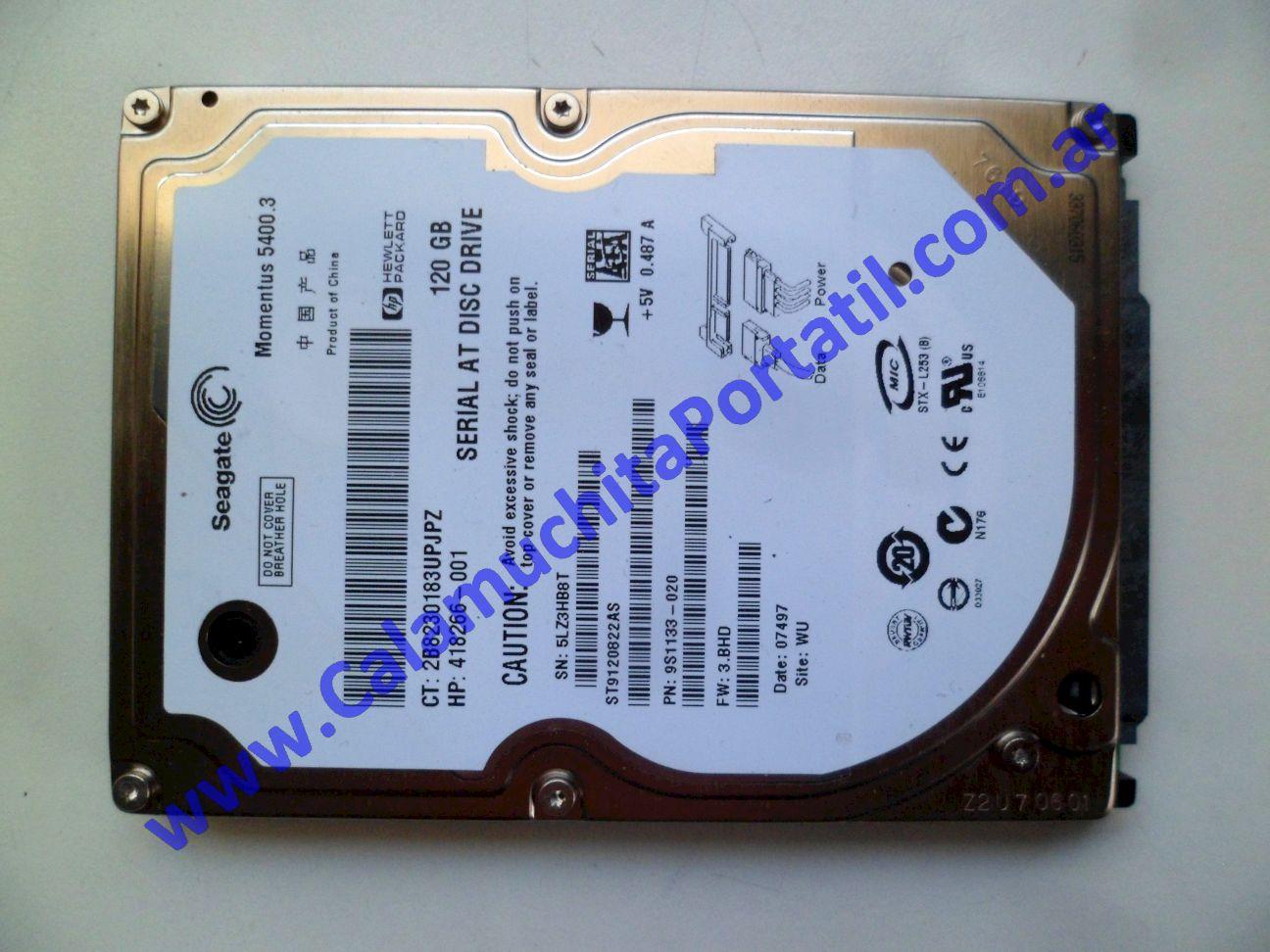 0625HDA Disco Rígido Hewlett Packard Pavillion dv2000 – dv2422la – GM690LA#AC8