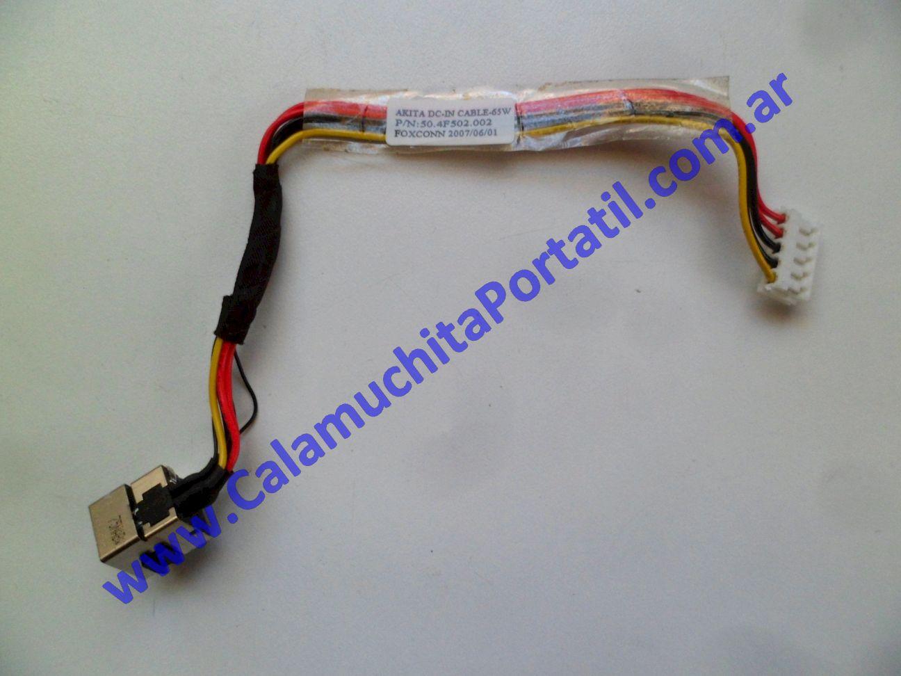 0625JPO Conector Power Hewlett Packard Pavillion dv2000 – dv2422la – GM690LA#AC8