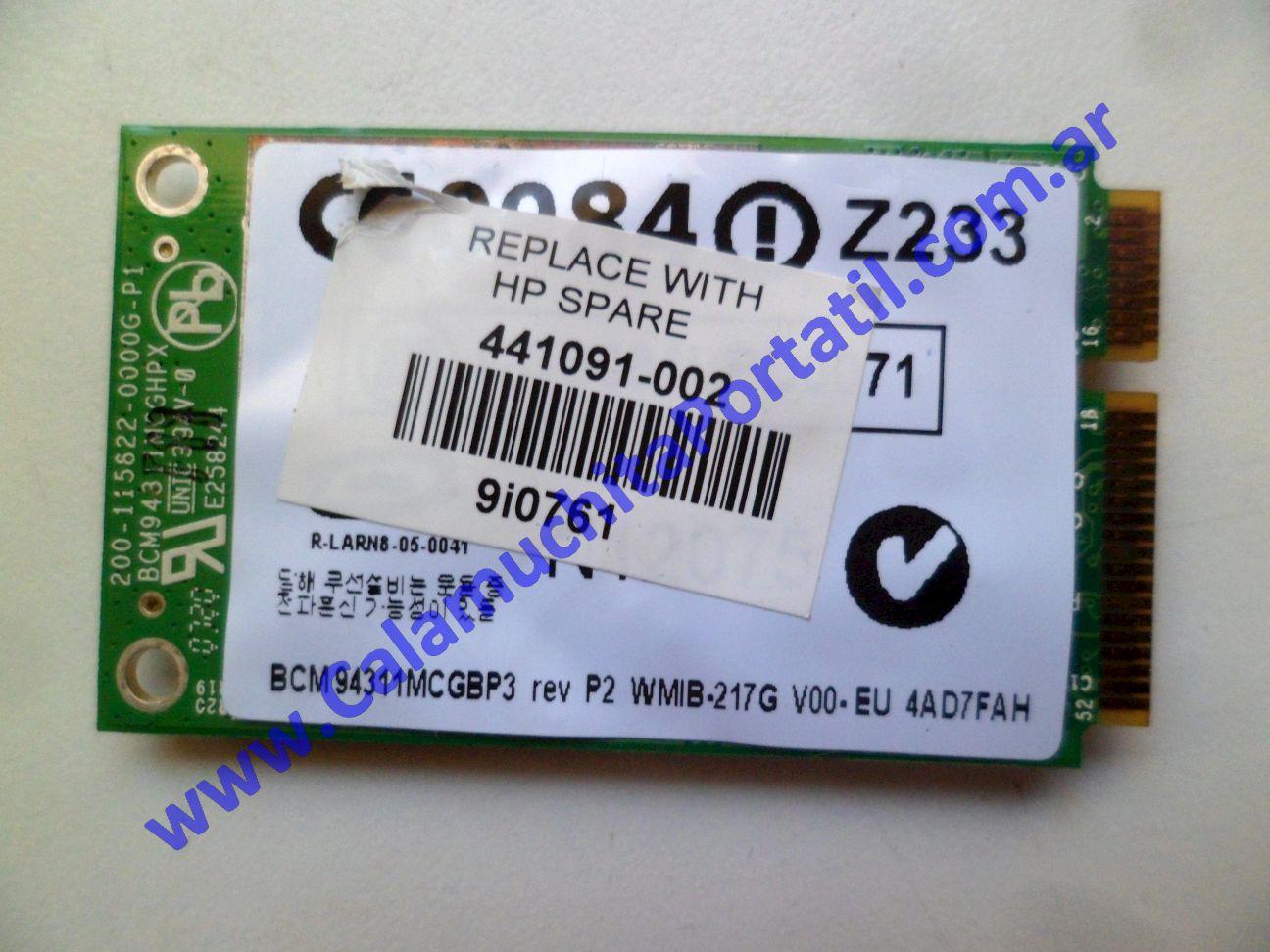0625PWI Placa Wifi Hewlett Packard Pavillion dv2000 – dv2422la – GM690LA#AC8